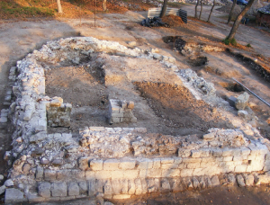 A templom feltárt maradványai (2011)